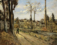 Paul Cézanne - Louveciennes, after Pissarro
