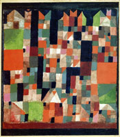 Paul Klee Picture of a City (Red-Green Accents)