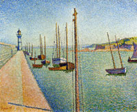 Paul Signac The Masts, Portrieux, Opus 182
