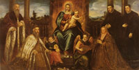 Tintoretto Doge Alvise Mocenigo and Family Before the Madonna and Child