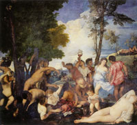 Titian The Bacchanal