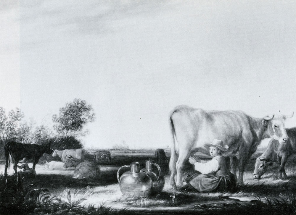 Studio of Aelbert Cuyp - Milking cows