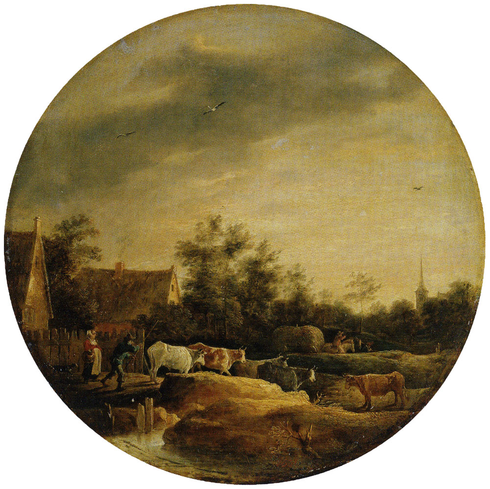 David Teniers the Younger - Landscape with Cows