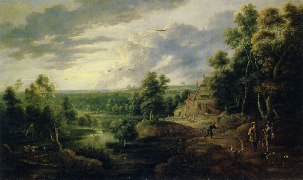 Lucas van Uden and David Teniers the Younger - Landscape with Trees in a River Valley