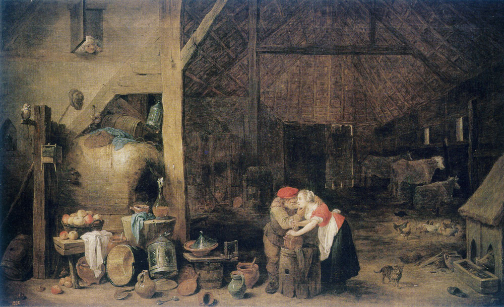 David Teniers the Younger - The Old Man and the Maid