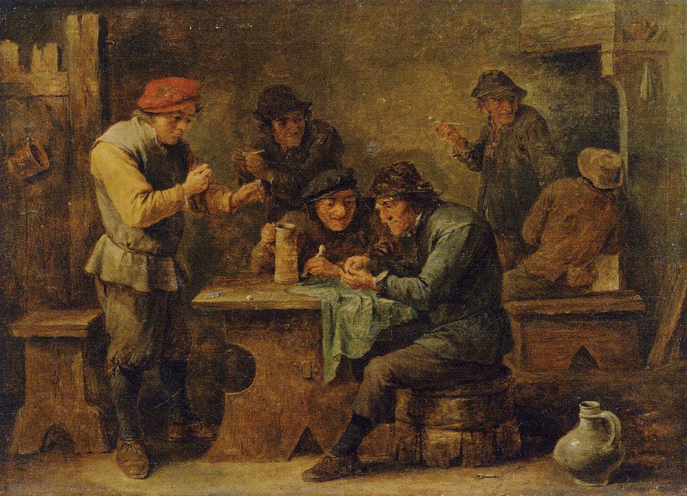 David Teniers the Younger - Peasants Playing Dice