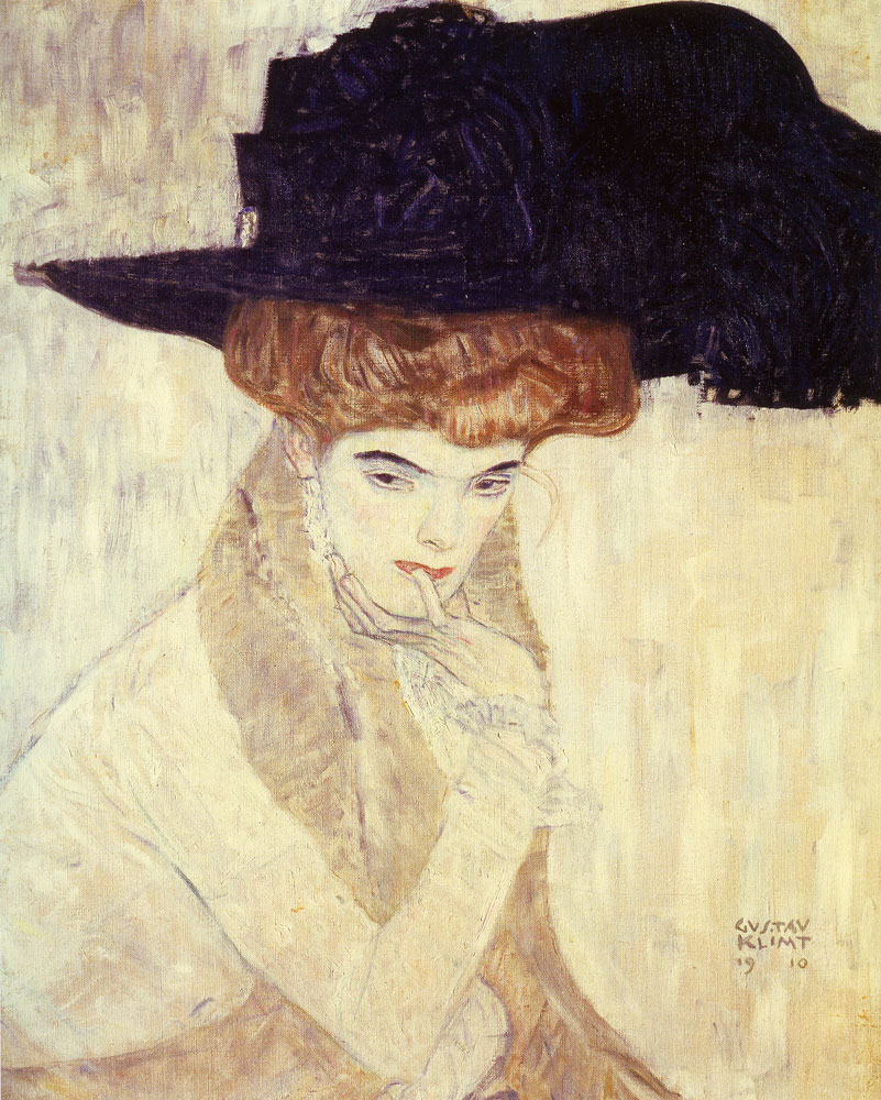 Gustav Klimt - The Black Feather Hat