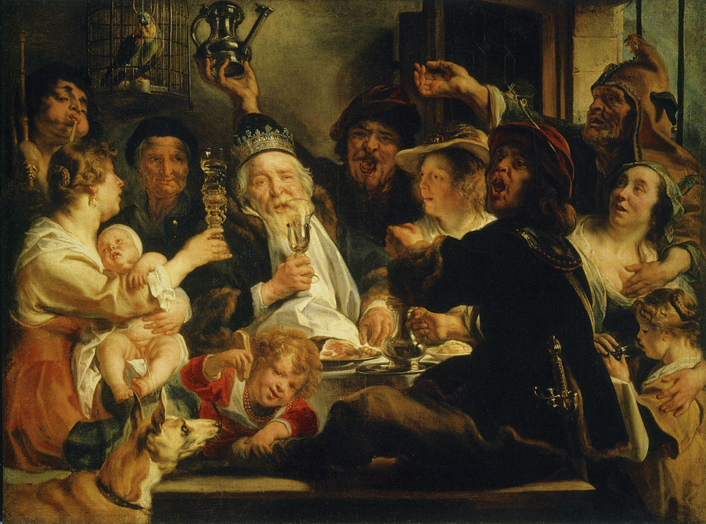 Jacob Jordaens - The Bean King (The King Drinks!)