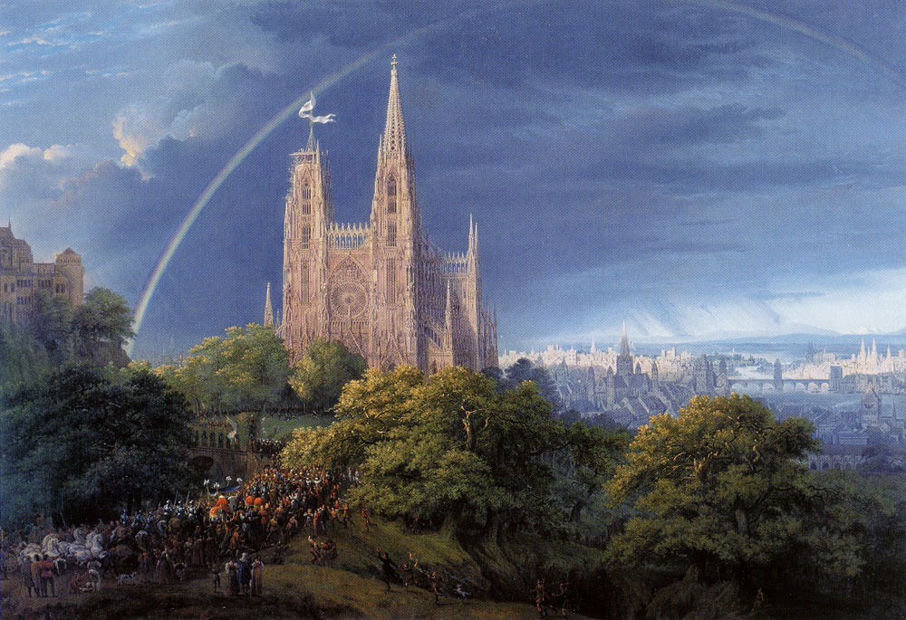 Karl Friedrich Schinkel - Medieval City on a River