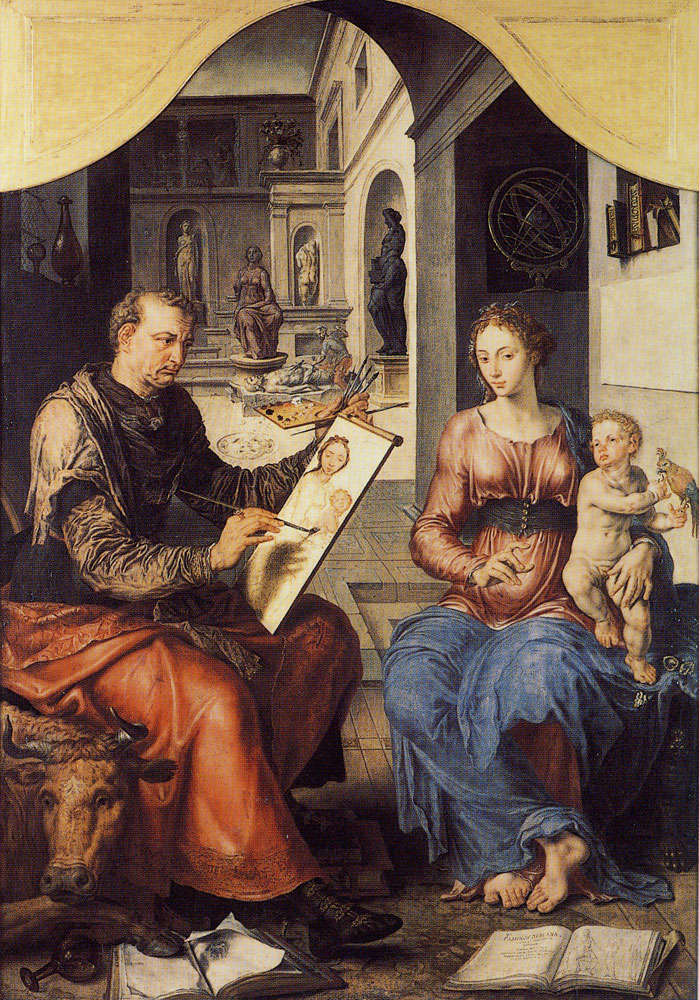 Maerten van Heemskerck - Saint Luke painting the Virgin