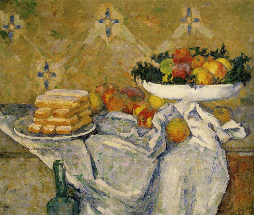 Paul Cézanne - Compotier and plate of biscuits