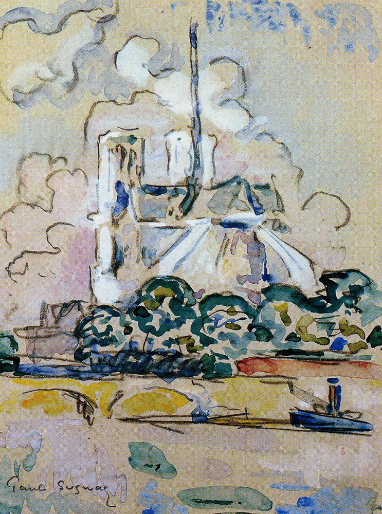 Paul Signac - The Chevet of Notre-Dame-de-Paris