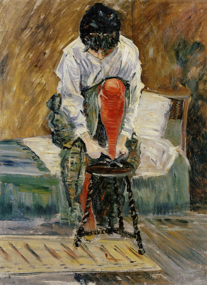 Paul Signac - The Red Stocking
