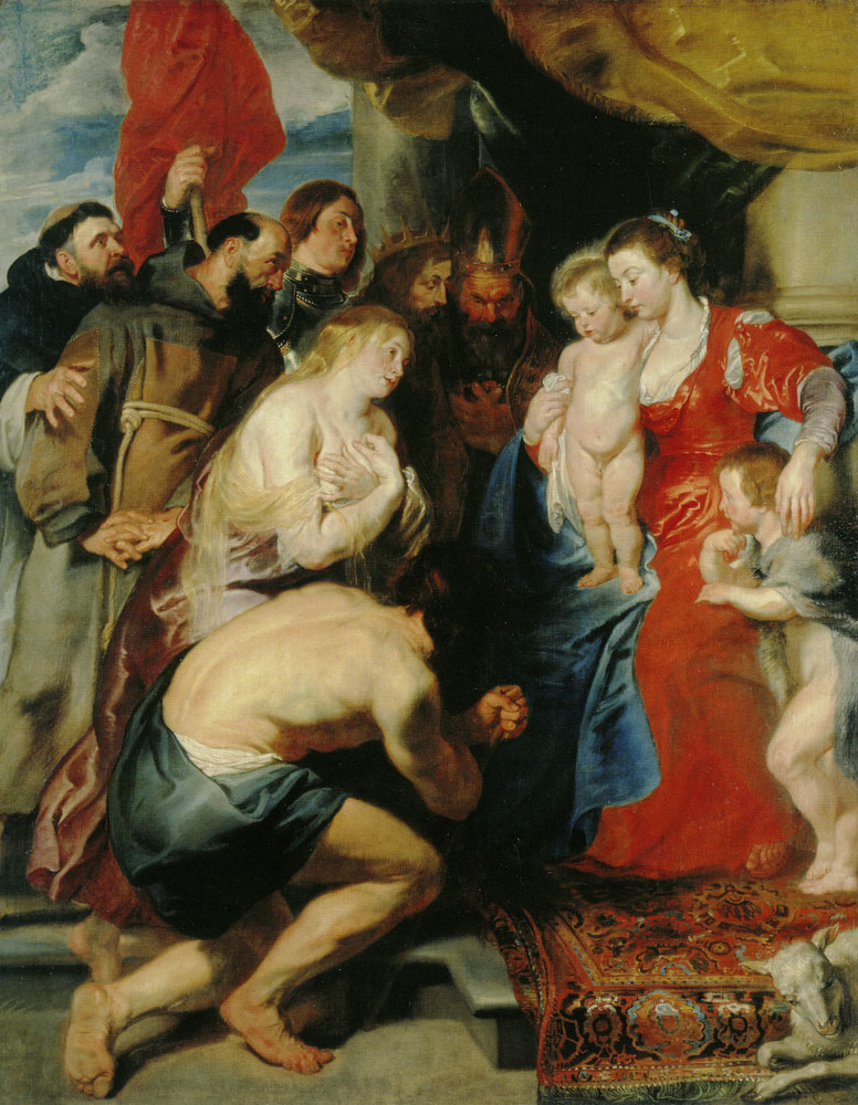 Peter Paul Rubens and Anthony van Dyck - Virgin and Child with Penitent Sinners