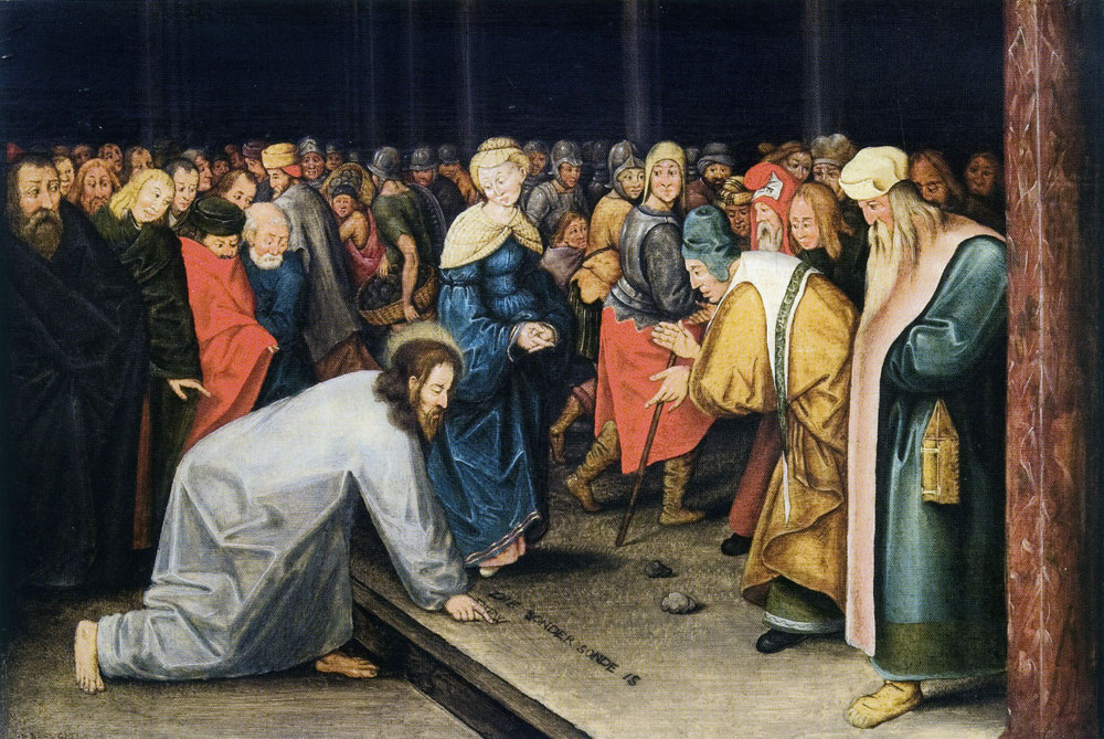Pieter Brueghel the Younger - Christ and the woman caught in adultery