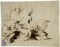 Anthony van Dyck Study for Samson and Delilah