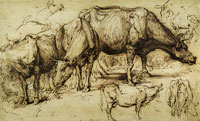 Anthony van Dyck Cattle in Pasture