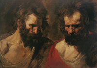 Anthony van Dyck - Double Head Study of a Bearded Man
