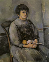 Paul Cézanne Young girl with a doll