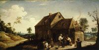 David Teniers the Younger Landscape with Peasant Before an Inn