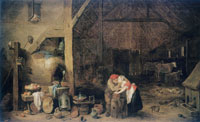 David Teniers the Younger The Old Man and the Maid