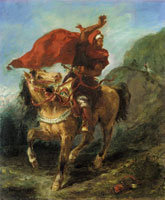 Eugène Delacroix Arab Chieftain Signaling to His Companions