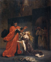 Eugène Delacroix Desdemona Cursed by Her Father