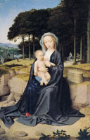 Gerard David A Rest During the Flight from Egypt