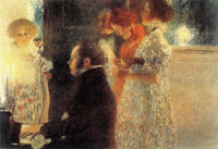 Gustav Klimt Schubert at the Piano II