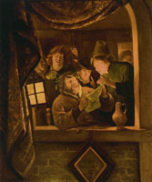 Jan Steen The Rhetoricians of Warmond by Candlelight