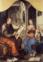 Maerten van Heemskerck Saint Luke painting the Virgin