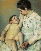 Mary Cassatt Baby's First Caress