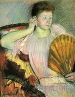 Mary Cassatt - Clarissa Turned Right with Her Hand to Her Ear