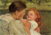 Mary Cassatt Maternal Caress