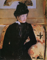 Mary Cassatt Portrait of a Young Woman in Black