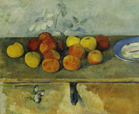 Paul Cézanne Apples and biscuits