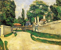 Paul Cézanne Houses Along a Road