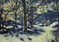 Paul Cézanne Snowy forest near fontainebleau