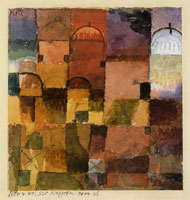 Paul Klee Red and White Domes