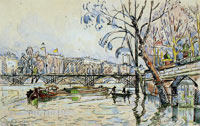 Paul Signac Flood at the Pont des Arts, Paris
