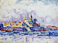 Paul Signac Red Sunset, Antibes