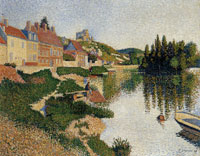 Paul Signac Riverbank, Les Andelys