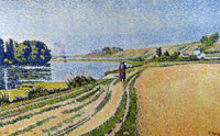 Paul Signac The Riverbank, Herblay, Opus 204