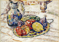 Paul Signac Still Life with Fruit and Vegetables