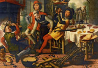Pieter Aertsen Peasants by the hearth