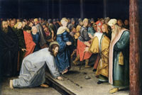 Pieter Brueghel the Younger Christ and the woman caught in adultery