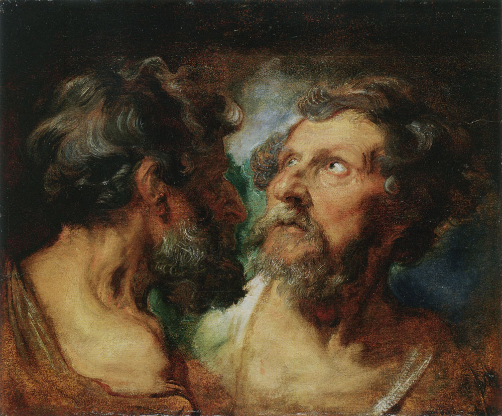 Anthony van Dyck - Study of Two Heads