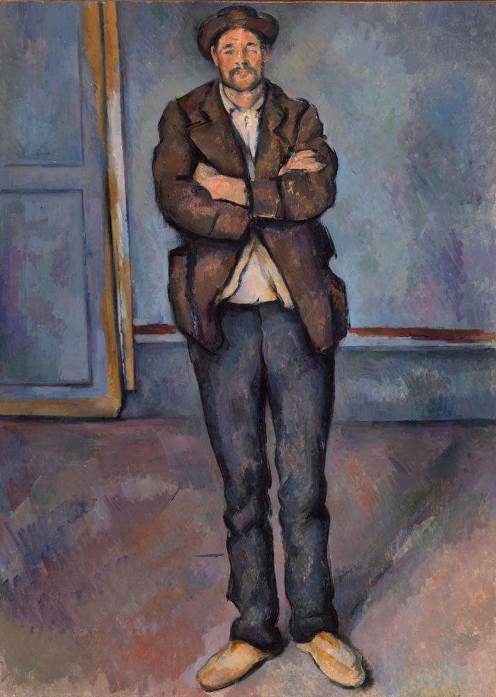 Paul Cézanne - Peasant Standing with Arms Crossed