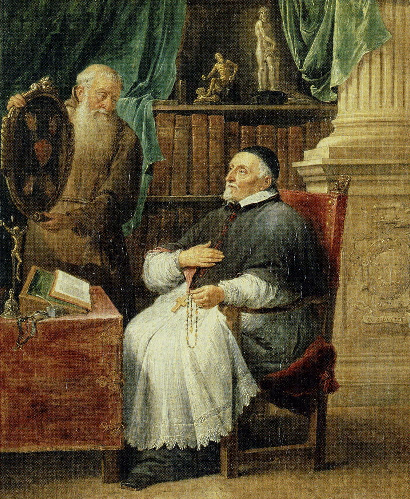 David Teniers the Younger - Portrait of Antoon Triest, Bishop of Ghent, and his Brother Eugenio, a Capuchin Monk