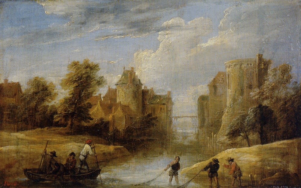 David Teniers the Younger - Landscape with Fishermen